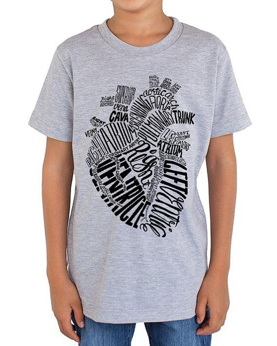 Anatomical Heart Youth T-Shirt | Future Nurse, Anatomy, Biology ...