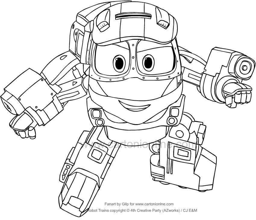Kay from Robot Trains coloring page download free, best