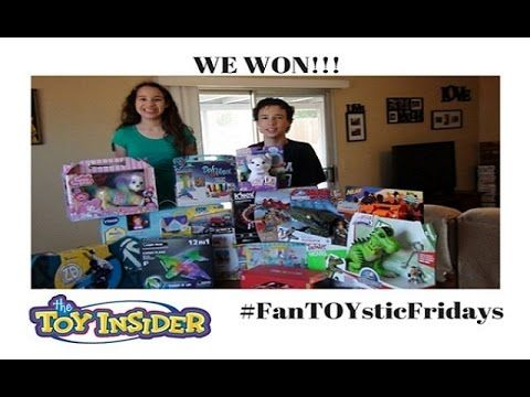 My Kids React: We Won The Toy Insider #FanToysticFridays Giveaway