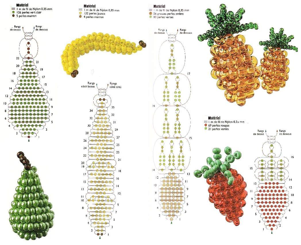животные объемные из бисера схемы плетения