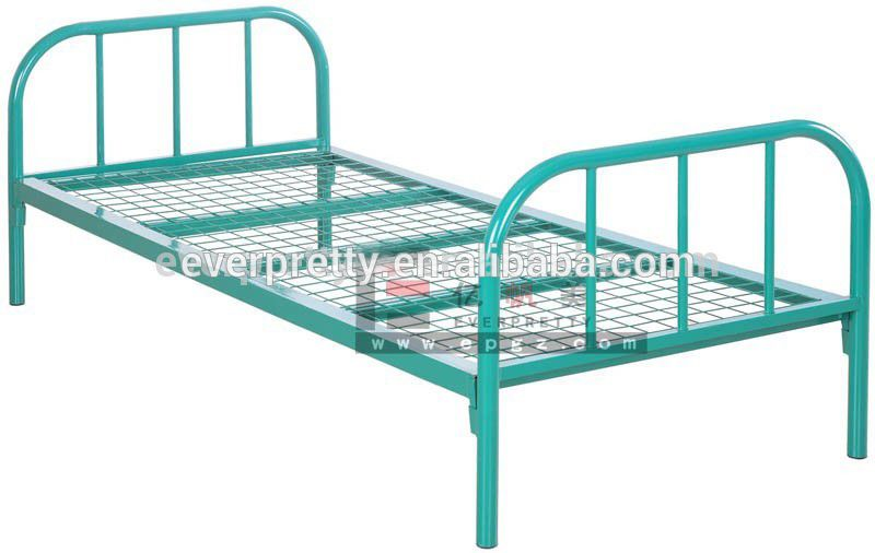 Strong Kids Metal Single Bed With Slide Stackable Single Metal