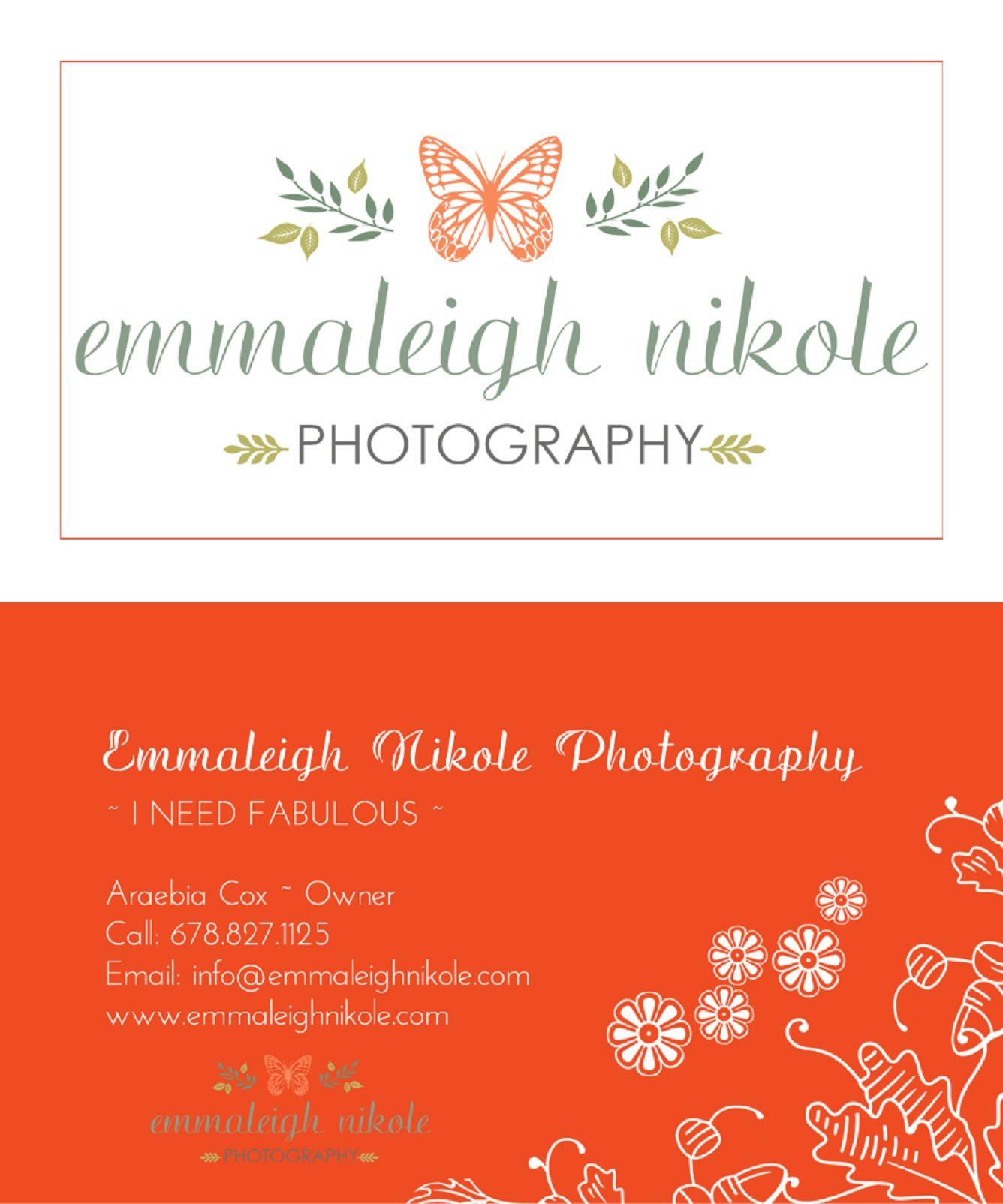 emmaleighnikole business cards lithonia photographer atlanta