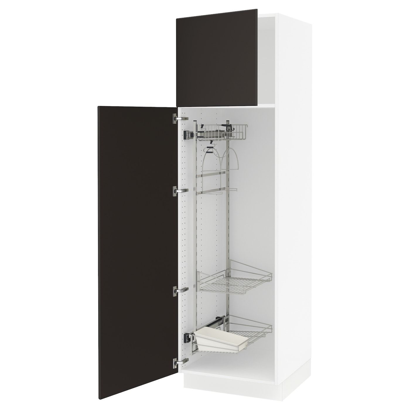 IKEA SEKTION White, Kungsbacka Anthracite High cabinet ...