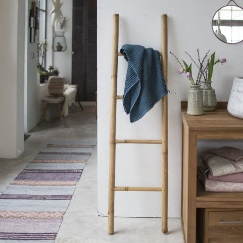 Echelle porte serviette en bambou naturel Bedrooms and House