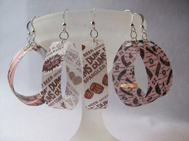 Recycled Bottle Earrings-35 DIY Ideas for Super Cute Bracelets and Earrings