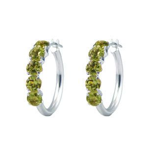 Pin By Gemologica On Earrings Pinterest Gold Hoops Peridot And Deal