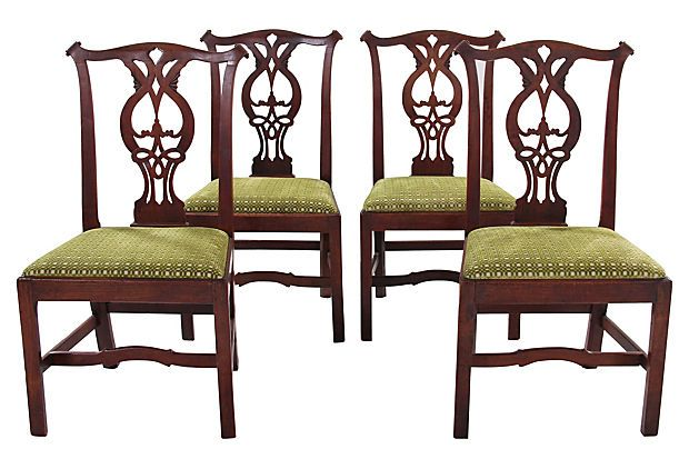 19th-C. Chippendale-Style   Chairs, S/4 on OneKingsLane.com