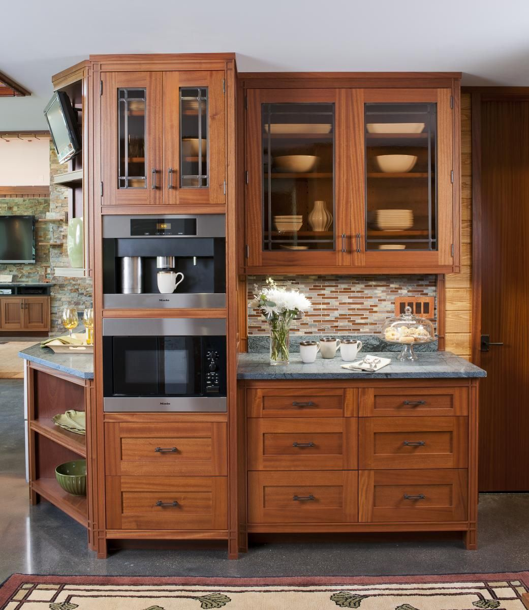 Kitchen Cabinets Look Like Furniture: Built-in And Storage Station (Cultivate.com)
