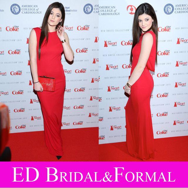 Kylie Jenner Roter Teppich-kleid Lange Open Back Prom Kleid Chiffon ...