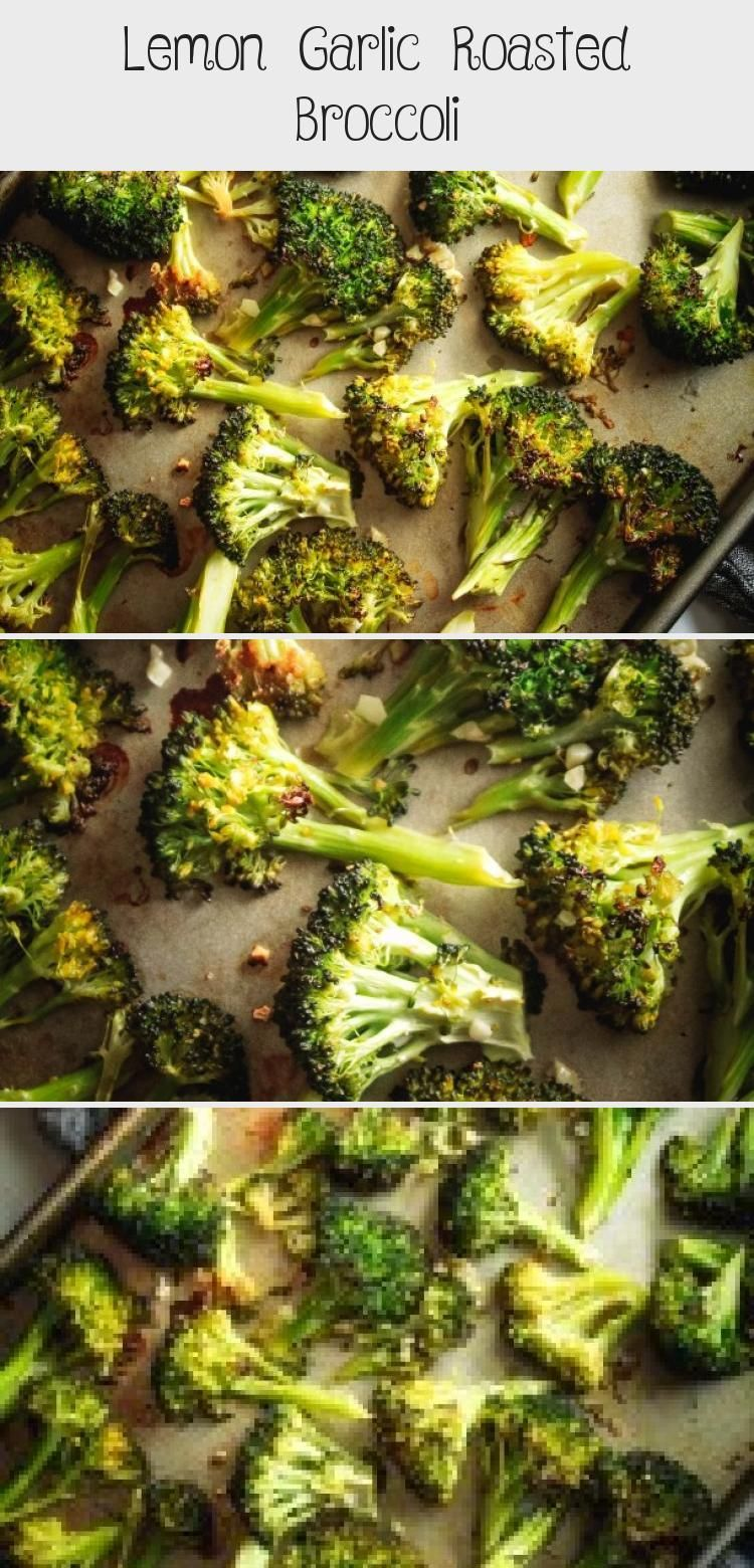 Lemon Garlic Roasted Broccoli Lemon Garlic Roasted Broccoli Oil-Free | Looking for an easy vegan side dish to make? This is one of the best oil-free recipes to make as a healthy vegan side dish recipe!