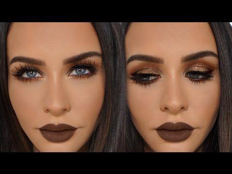 Kim Kardashian Bronze Smokey Eyes One Brand Tutorial Freedom Makeup You
