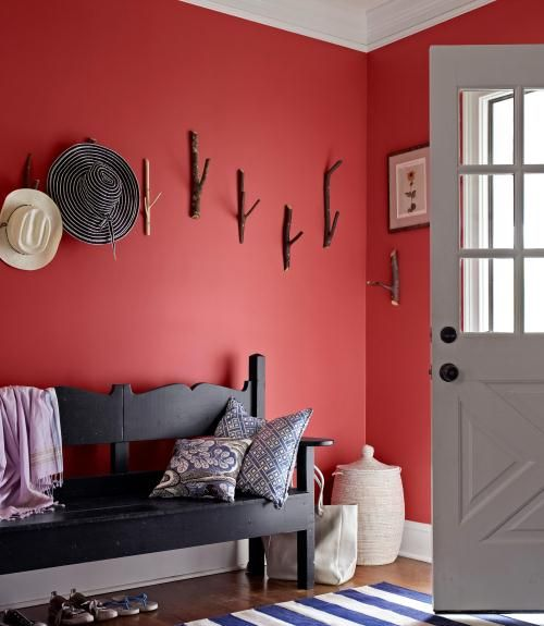 41 Lively Ways to Use the Color Red | Red rooms, Country living and ...