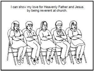 16+ I can be reverent coloring page info