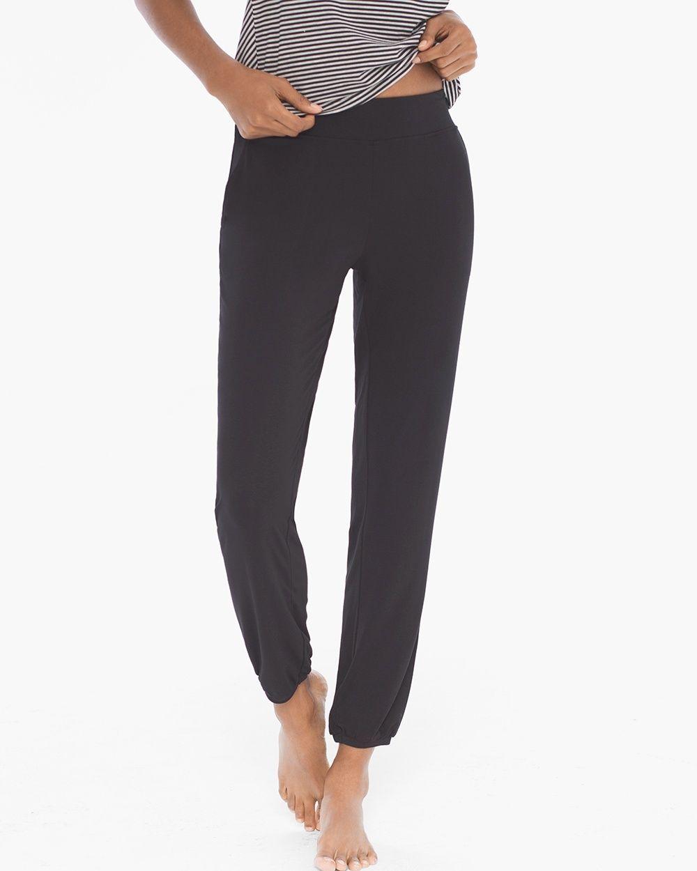Soma Cool Nights Banded Ankle Pajama Pants Black 5287106df