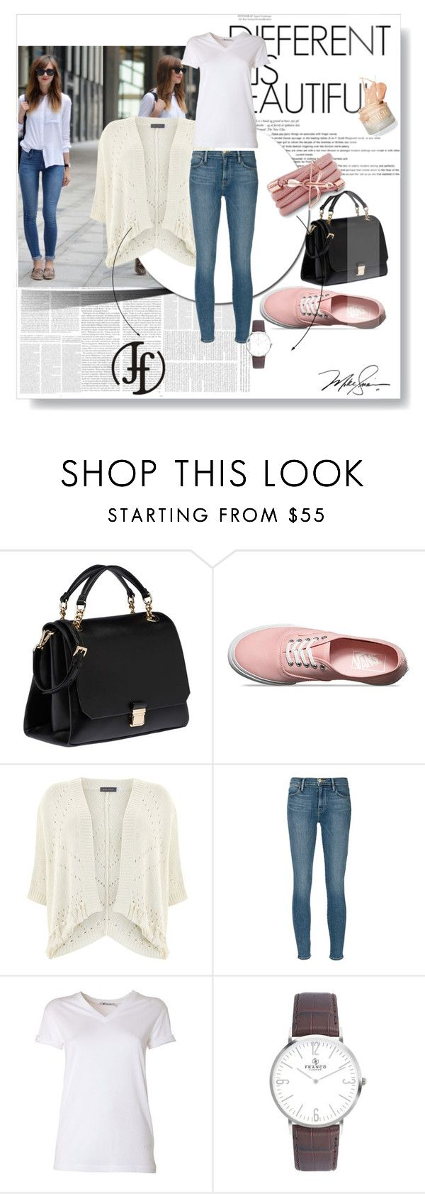 """Franco Florenzi"" by gold-phoenix ❤ liked on Polyvore featuring Miu Miu, Vans, Mint Velvet, Frame Denim, T By Alexander Wang and Monza"
