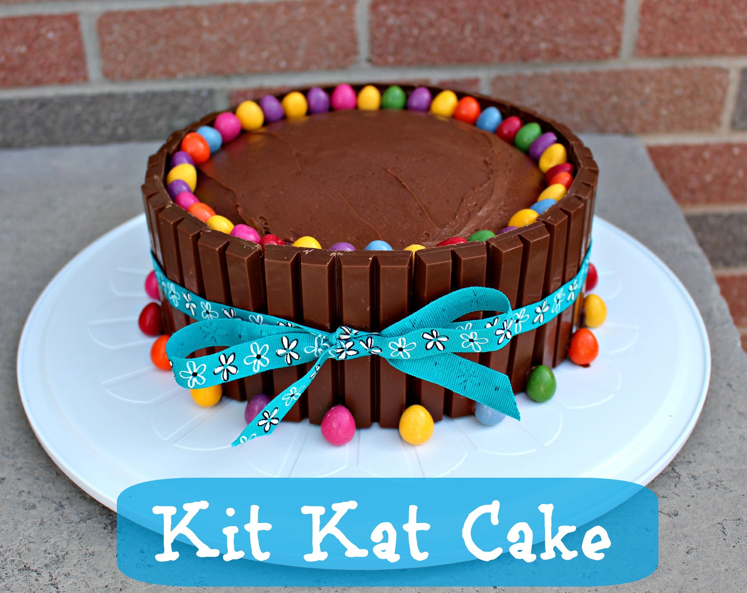 Excellent Kit Kat Cake Recipe With Images Kit Kat Cake Easy Birthday Personalised Birthday Cards Veneteletsinfo