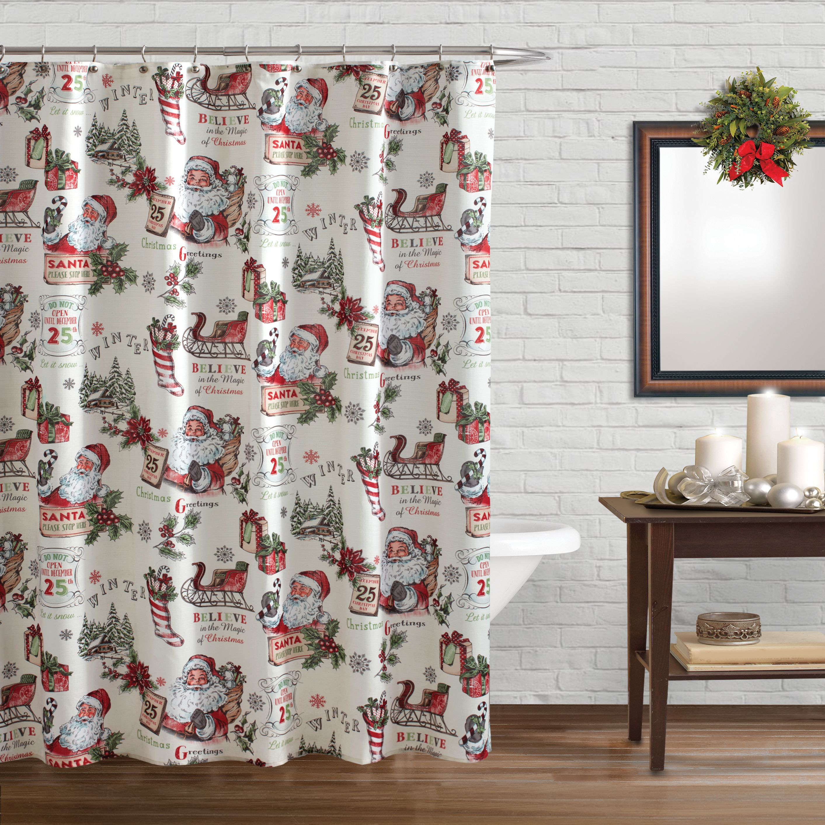 Bring Retro Style And Holiday Cheer To Your Bathroom With This