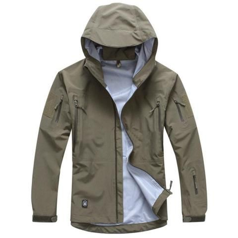 Hiking Clothings Hiking Jackets Mens Double Face Fleece Warm Jacket Spring Autumn Outdoor Military Training Riding Hunting Climbing Camo Thermal Tactical Jacket