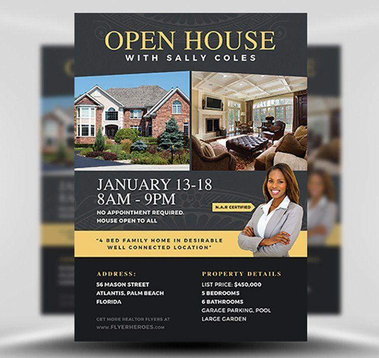 Open House Flyers Template Inspirational Open House Flyer ...
