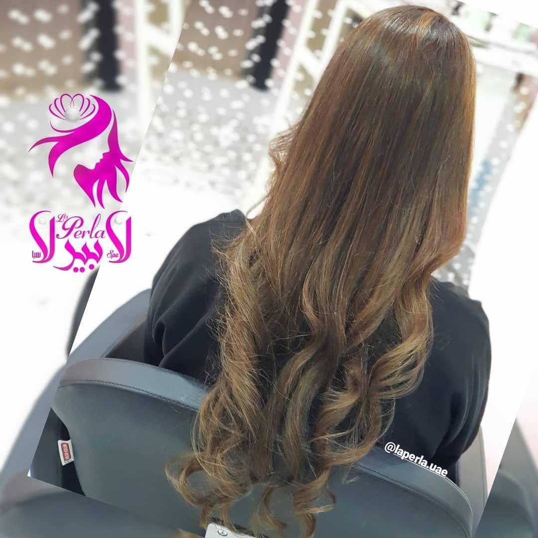 صبغة الشعر مع الهايلايت وسيشوار ووافي اومبري لشعر طويل Hair Color With Highlights Seshwar With Wavy Ombre For Long Hair Hair Colo
