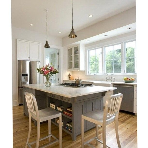 Kitchen Peninsula Banquette: Kitchen Island With Cooktop, Kitchen Island With Seating