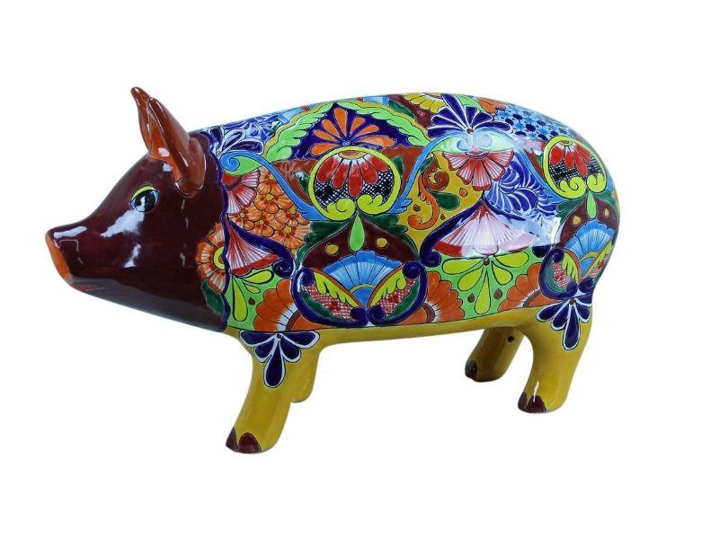 ANIMALS Gerardo Garcia LARGE PIG TALAVERA MEXICAN POTTERy