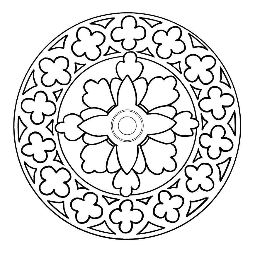Mandalas De Flores Para Colorear - AZ Dibujos para colorear ...