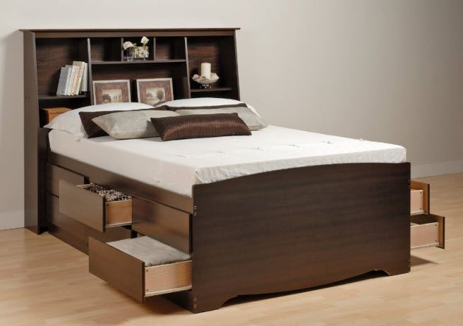 Bed With Storage Below Queen Size Bed With Drawers Underneath Tall Bed Beds For Small Spaces Beautiful Bedroom Designs
