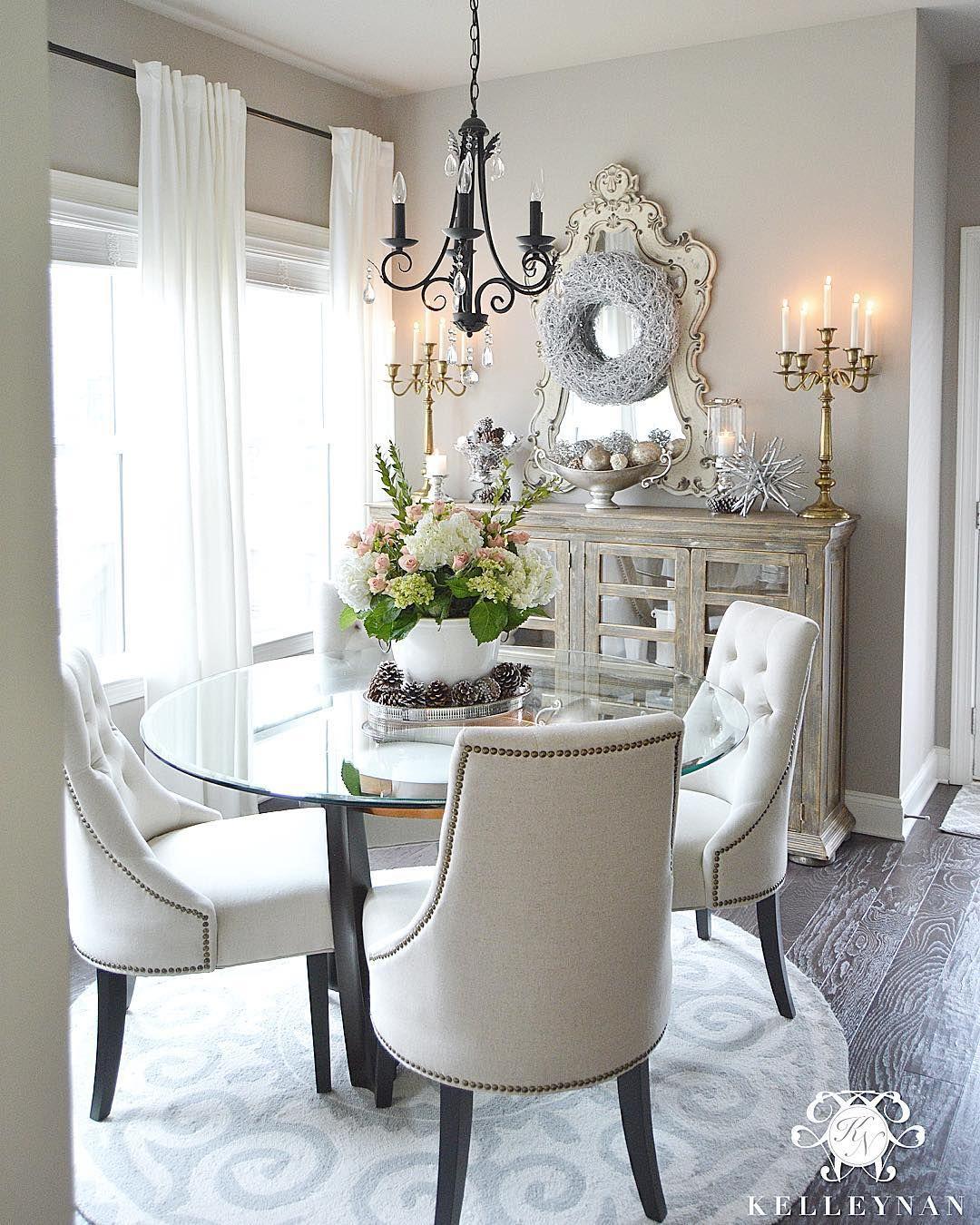 Kitchen Nook Curtains: Kelley Nan (@kelleynan) €� Neutral And White Breakfast Room