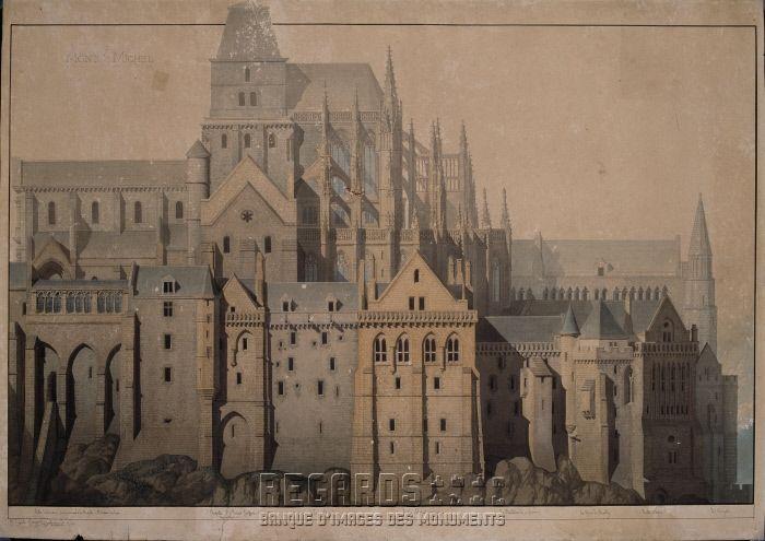 Abbaye Du Mont Saint Michel Mont Saint Michel Abbaye Mt St Michel