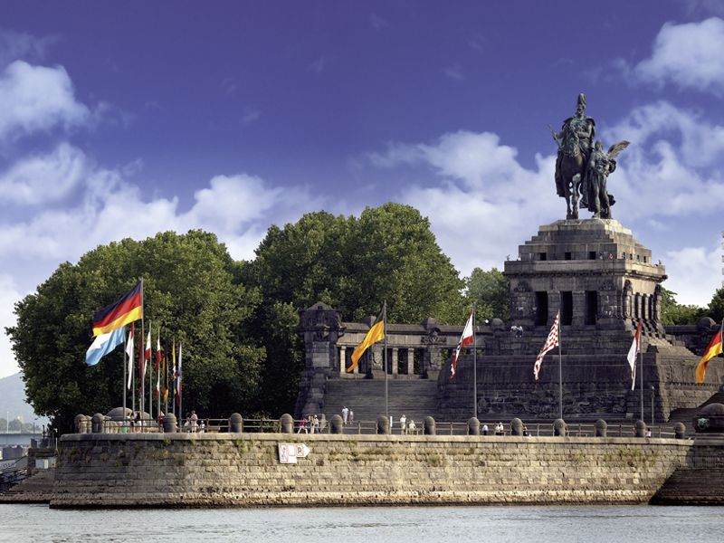 The German Corner photographed from the water Koblenz