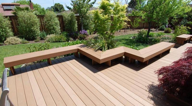 Built in seating on decks pictures google search deck for Small deck seating ideas