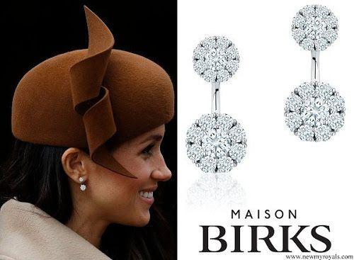 46d175513 Meghan Markle - Birks Snowflake Large Round Jacket Earrings #birks #maison  #jewelry #jewelrydesign #earrings #Diamond #style #meghanmarkle #british