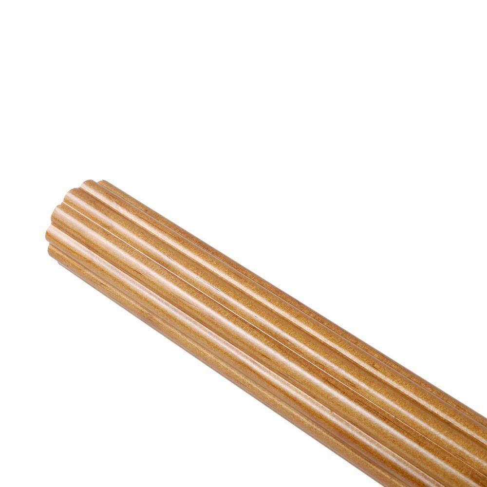 Martha Stewart Living 6 ft. Reeded 1-3/8 in. Wood Pole in Heritage ...