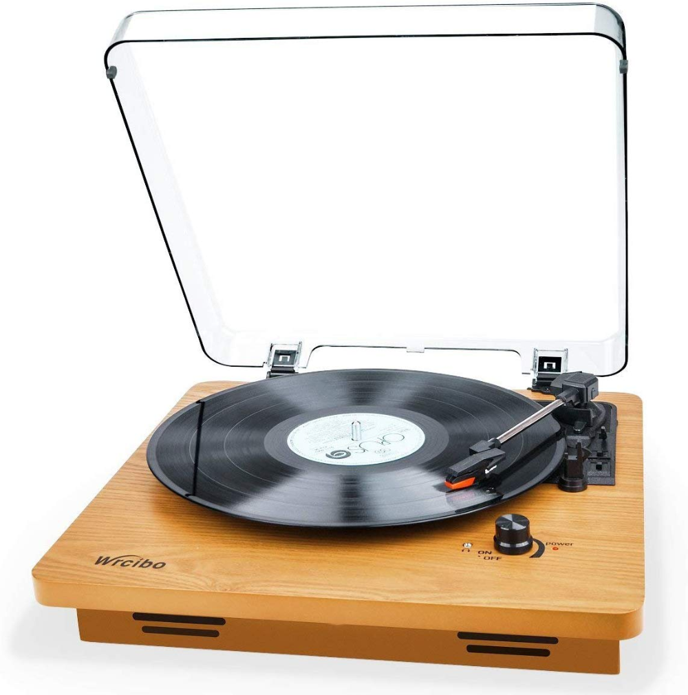 Wrcibo Record Player Vintage Turntable 3 Speed Belt Drive Vinyl Player Lp Record Player With Built I Vinyl Record Player Vinyl Player Best Vinyl Record Player