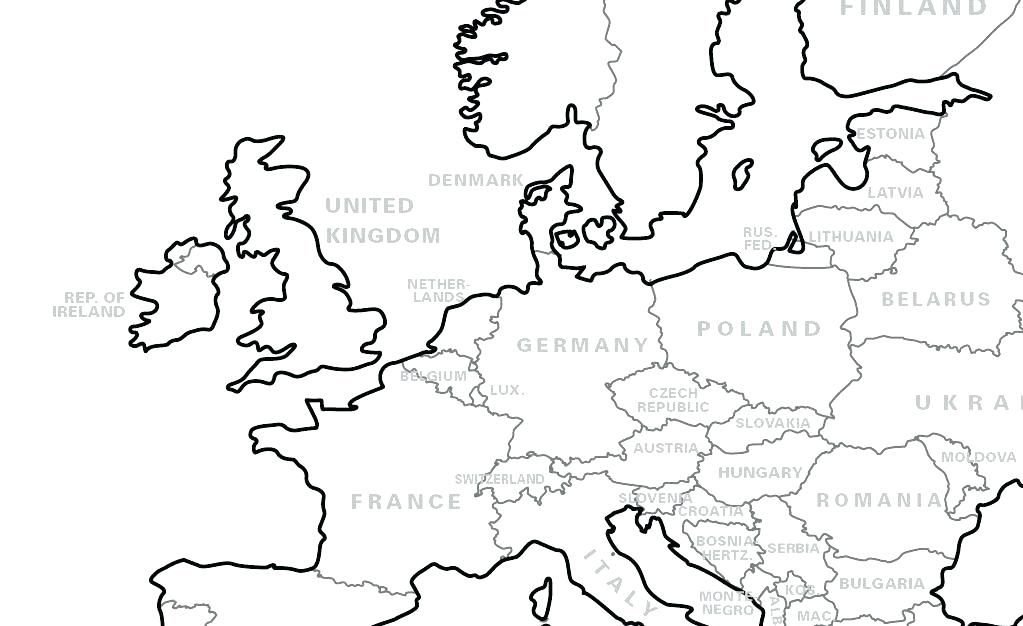 europe map coloring page map coloring page big personalised world ...