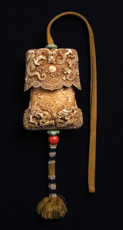 0a4203bb9 China | Tinder box with dragons; Ivory | Qing dynasty, Qianlong Emperor  (1736