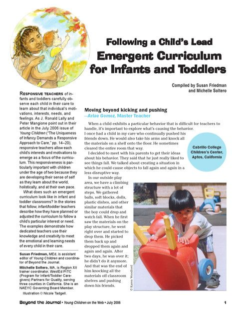 Emergent Curriculum For Infants And Toddlers Emergent Emergent