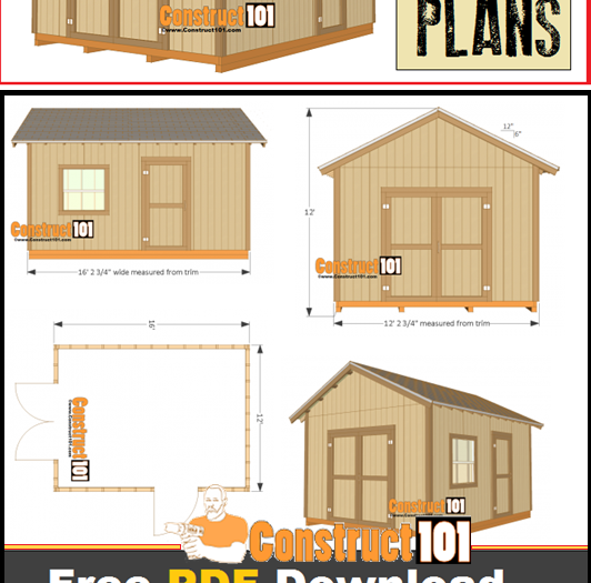 12x16 Shed Plans Gable Design Construct101 Shed Plans 12x16 Building A Storage Shed Shed Design