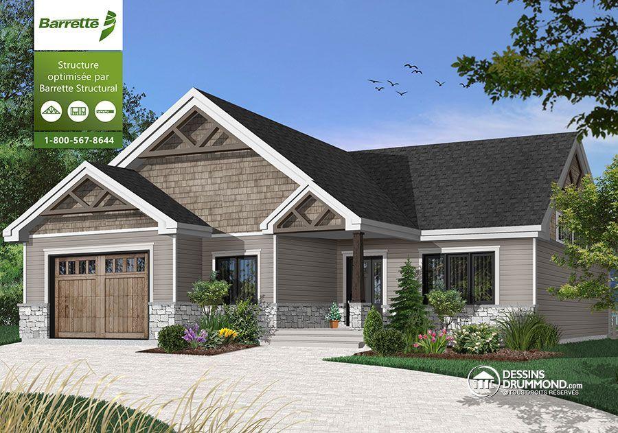 Détail du plan de Maison unifamiliale W3291 Home decor Pinterest