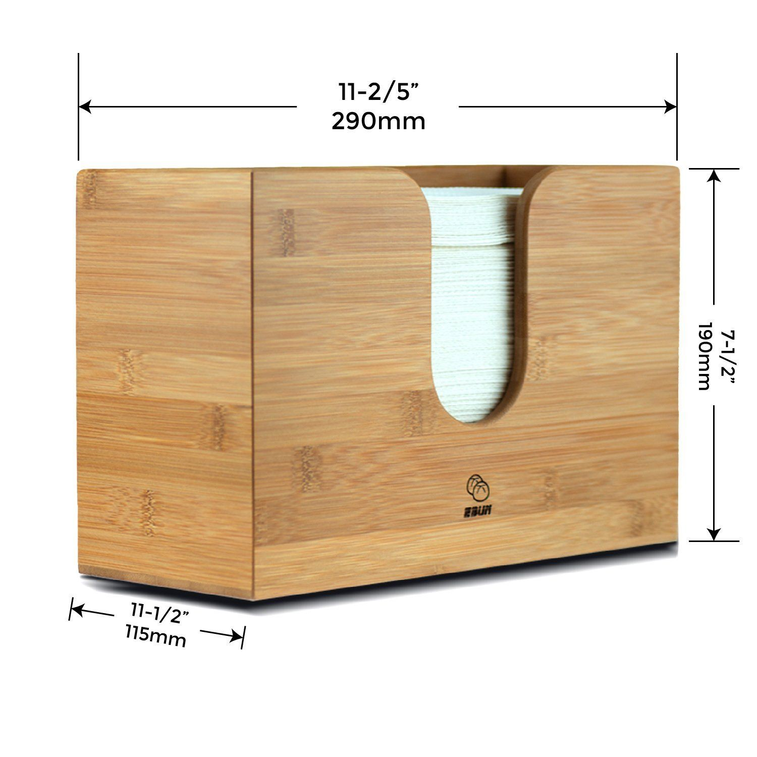 Bamboo Paper Towel Dispenser For Kitchen Bathroom Wall Mount