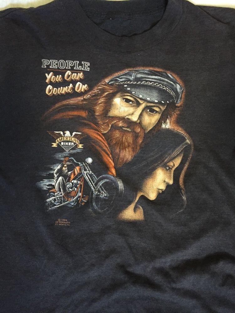 aca4b63bdeb9 Vtg 3D Emblem People You Can Count On T Shirt Harley Davidson Biker Rats  Hole #fashion #clothing #shoes #accessories #vintage #mensvintageclothing  (ebay ...