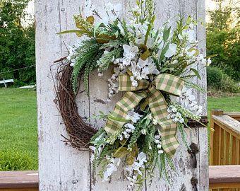 Photo of Fall sunflower wreaths, summer wreaths for front door, double door wreath, year …