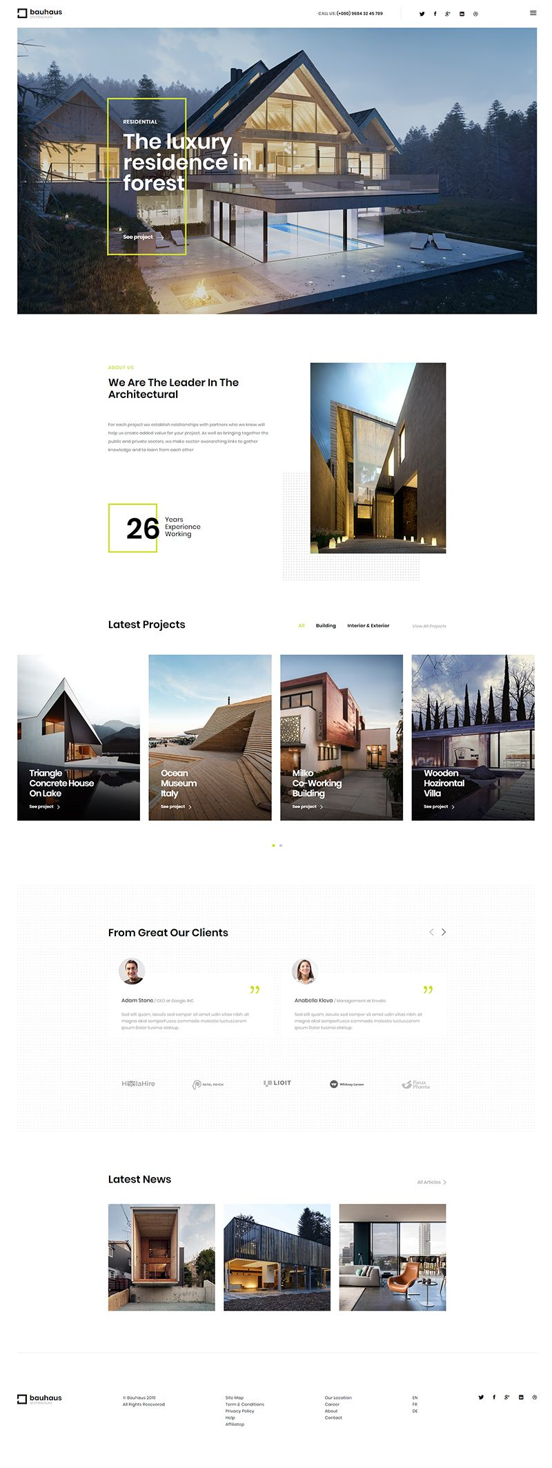 25 Outstanding Wordpress Themes For Architects 2020 Wpklik Architect Portfolio Design Layout Architecture Architecture Portfolio Design