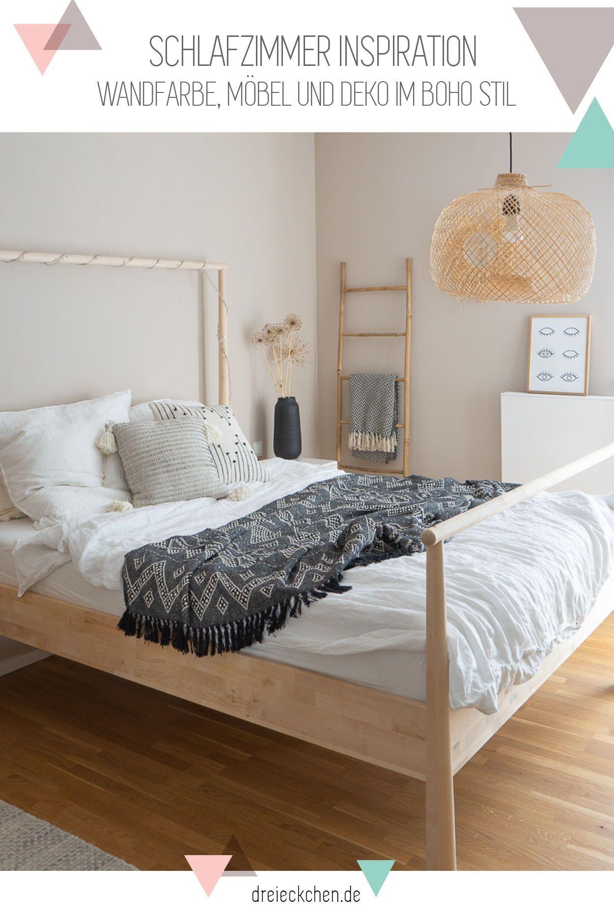 Schlafzimmer Inspiration Wandfarbe Mobel Und Deko Im Boho Stil
