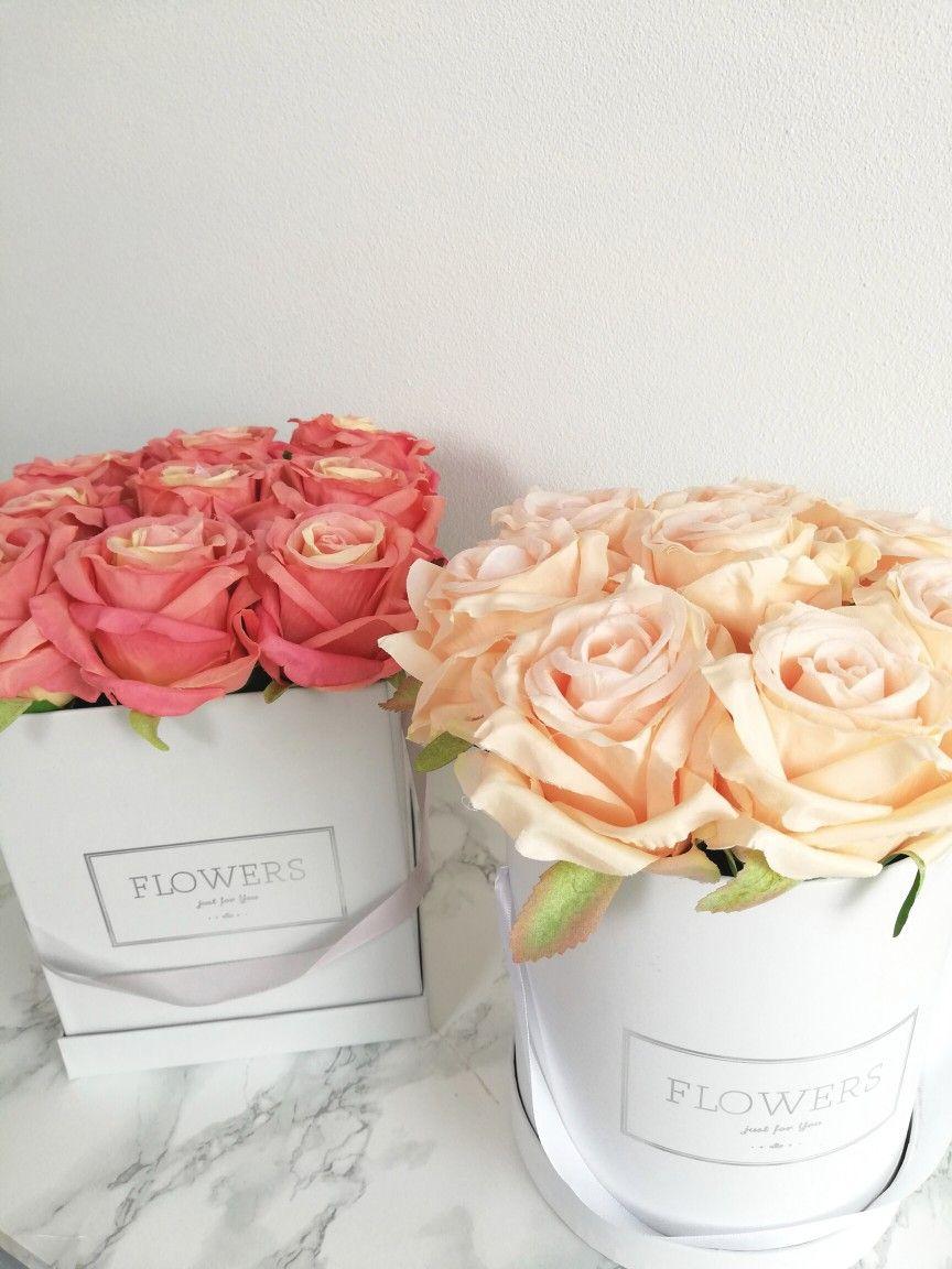 Flower Box Sztuczne Kwiaty Roze Rose Flowers Bouquet Flowers Bouquet