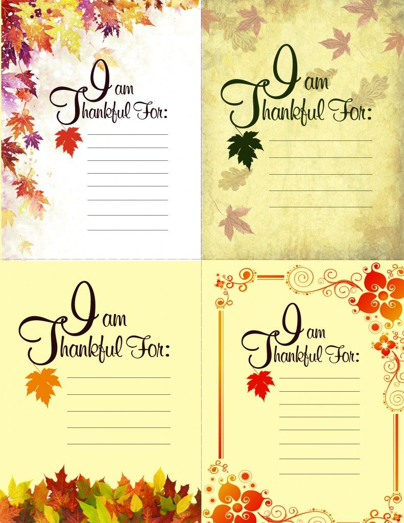 Printable Thanksgiving Place Setting Cards Thanksgiving Printable
