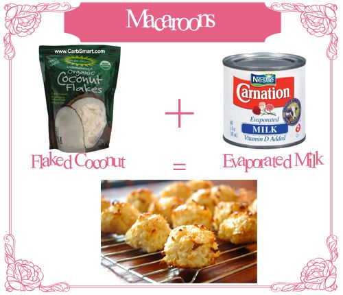 Main Ingredient Recipes: *Two Ingredient Macaroons* Main Ingredients: 1. Flaked