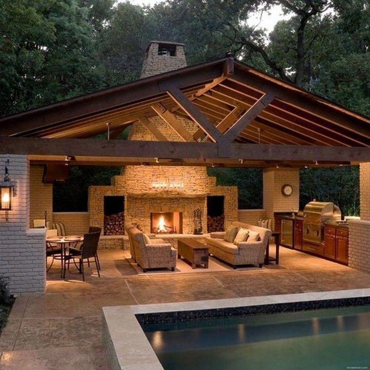 11 Great Ideas For Modern Barndominium Design To Inspire You Modern Outdoor Kitchen Backyard Patio Designs Backyard Kitchen
