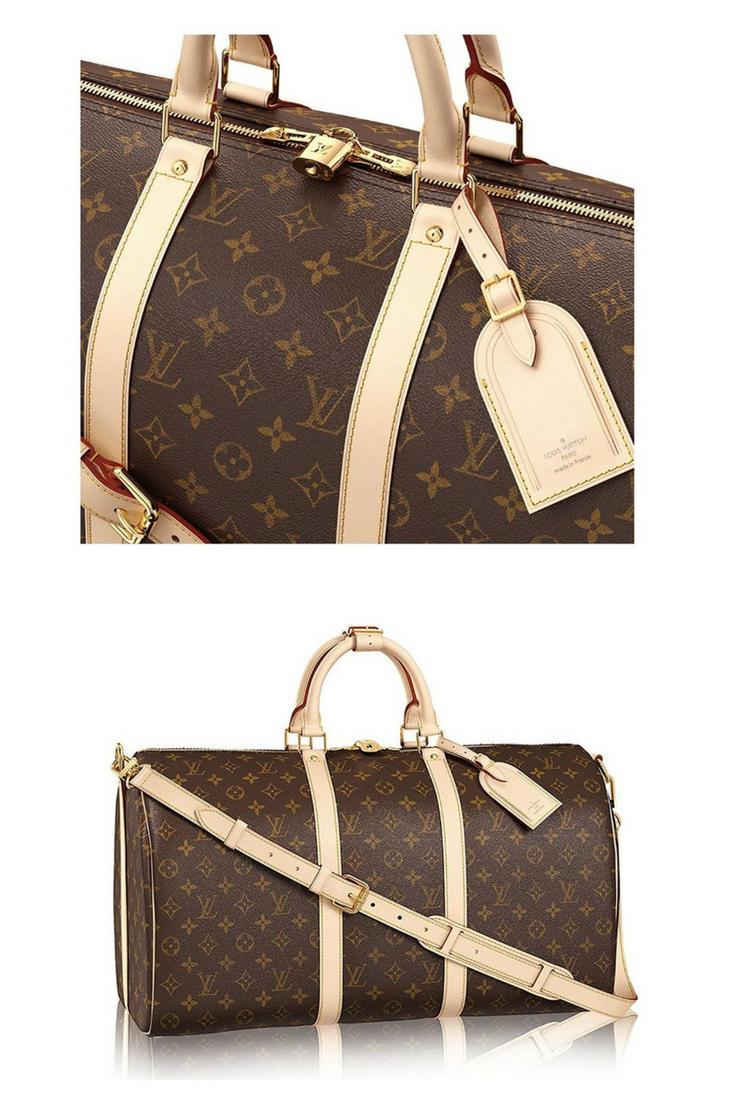 1c1914ab07ee Louis Vuitton handbags for women   Louis Vuitton Monogram Canvas Cross Body  Handle Keepall Bandoulière 50 Made in France . (affiliate link )